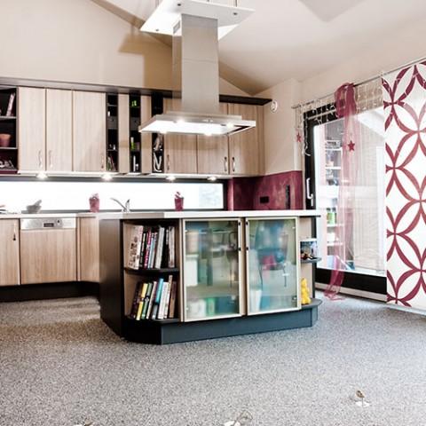 Steinteppich im privaten Bereich – Küche